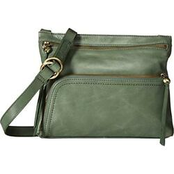 Hobo Crossbody Bags Womens Genuine Leather Vintage Cassie (Moss)