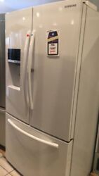 New open Box Samsung 27.8 cu. ft. Food Showcase French Door Refrigerator in Whit