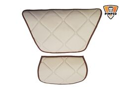 Daf 106xf 2 Small Dash Mats Eco Leather Available Smooth Any Color Beigeandbrown