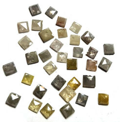 2.00 To 4.00 Mm Salt And Paper Diamond Square Shape Lot For Jeweler