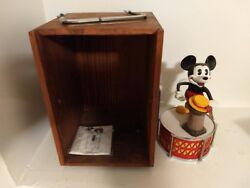 1982 Mint Walt Disney Mickey Mouse Mechanical Bank In Box By Pride Lines