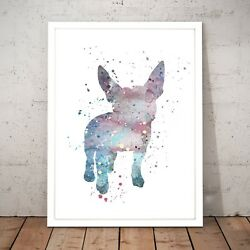 Boston Terrier Cute Painting Dog Unique Art Poster Print - A3 A2 A1 A0 Framed
