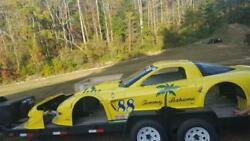 SCCA CORVETTE BODY WITH RADIATOR CARBON FIBER DUCTS TAIL LIGHTS EXTRA NOSE RAD