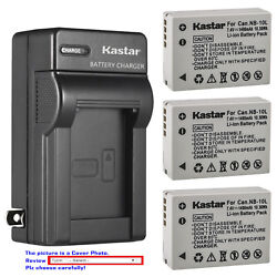 Kastar Battery Wall Charger for Canon NB 10L CB 2LC amp; Canon PowerShot SX50 HS