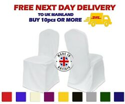Polyester Chair Cover Square Round Top Heavy Duty Dining Covers Loose Bottom Uk
