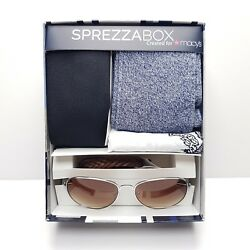 SprezzaBox Men's 5 Piece Accessory Set (Tie Bandana Socks Bracelet Sunglasses)
