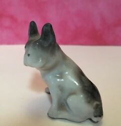 VINTAGE FRENCH BULLDOG SITTING FIGURINE Ceramic Dog