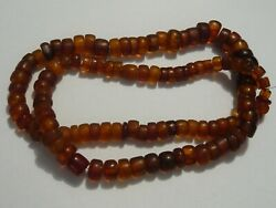 Very Long Strand Of Vintage Amber Beads