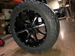 20x10 Moto Metal Mo970 35 Fuel Mt Wheel And Tire Package 6x5.5 Chevy Suburban