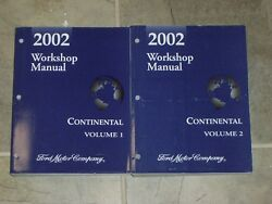 2002 Lincoln Continental Factory Shop Service Repair Manual Set Sedan 4.6L V8