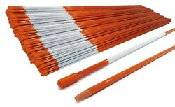 Pack Of 5000 Snow Poles 48 Inches Long 1/4 Inch Fiberglass With Reflective Tape
