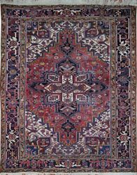 Authentic Wool Rnr-9262 7and039 1 X 9and039 1 Persian Heriz Rug
