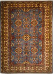 Authentic Wool 7and039 4 X 10and039 0 Pakistan Kazak Rug Rnr-9936