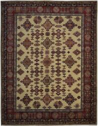 Authentic Wool 6and039 1 X 7and039 9 Pakistan Kazak Rug Rnr-9982