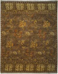 Authentic Wool 8' 0 X 10' 0 India Sultanabad Rug Rnr-9523