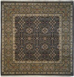 Authentic Wool 8and039 1 X 8and039 1 India Agra Square Rug Rnr-9556