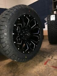 20 Fuel D576 Assault Gloss Black Wheels 285/55r20 Tires Package Toyota Tundra
