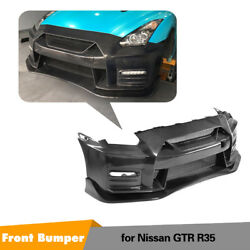 Carbon Fiber Font Bumper With Lip Fit for For Nissan GTR R35 09-17 NISMO Style