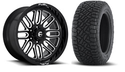 20x10 Fuel D663 Ignite 32 At Wheel And Tire Package 8x180 Gmc Sierra