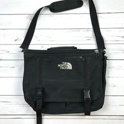The North Face Black Messenger Crossbody Bag Padded Strap FLAW