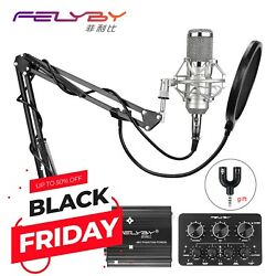 FELYBY bm 800 Professional condenser microphone for computer audio studio vocal