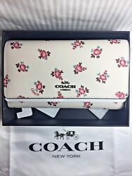 New COACH FLORAL BLOOM CELL PHONE CROSSBODY BAG PURSE WALLET GIFT BOX