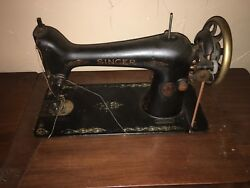 Andnbspsinger Antique Treadle Sewing Machine And Fancy 7 Drawer Cabinet As Is