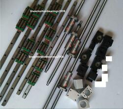 Hiwin Exange Linear Guide Rail Carriages , Ball Screws With Double Ballnut Cnc