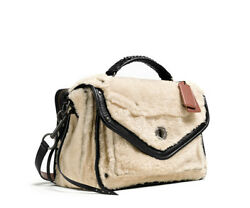 Coach Bag Rhyder Shearling Messenger Cross Body Shoulder Tote Retail $1300