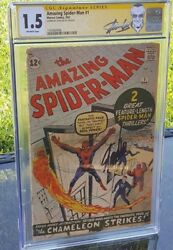 AMAZING SPIDER-MAN #1 CGC 1.5 SS SIGNED STAN LEE 1
