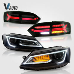 Pair Headlights And Pair Tail Lights For 2011-2014 Volkswagen Vw Jetta Assembly