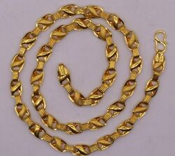 Christmas Gifting 22k Gold Lotus Chain Menand039s Womenand039s Necklace Chain Ch156