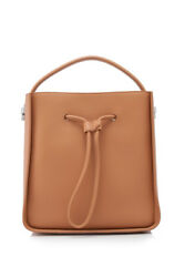 3.1 Phillip Lim Soleil Small Bucket Drawstring Bag (Beige; Cow Leather)