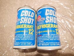TWO CANS COLD SHOT R12 REFRIGERANT 12 oz AUTO AC AIR CONDITIONING R-12