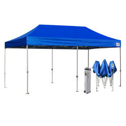 Blue 10X20 EZ Pop Up Canopy Commercial Outdoor Party Beach Tent wWheeled Bag