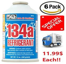 Interdynamics Auto Air Conditioner R-134a Refrigerant 12 oz NEW 6 Pack Lot Deal
