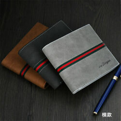 Men Leather Bifold Id Card Holder Purse Wallet Billfold Handbag Slim Clutch $10.99