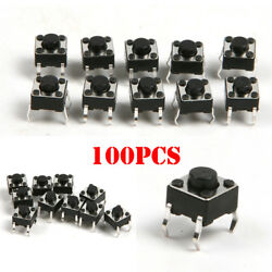 100PCS Micro Momentary Tactile Tact Switch Push SMD Button DIP P4 6*6*5mm