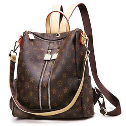 Leather Backpack Purse for Women PU Shoulder Bag Fashion LOUIS VUITTON Design
