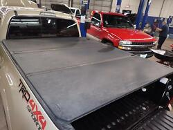 16 17 18 Tacoma Oem Tonneau Cover 3 Pc Foldable Black Texture Fits 6and039 1 Bed