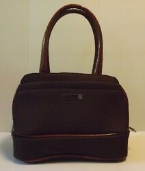 Protocol Brand Luggage Travel Carry All Messenger Style Bag Brown Padded Strap