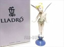 LLADRO Disney Tinker Bell Figure Pottery 1992 Autographed[811]