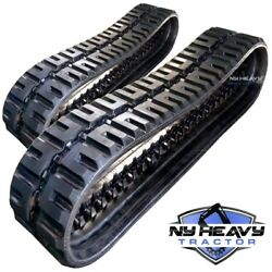 Two Rubber Tracks For Gehl Ctl65 320x86x52 C-lug Tread Free Shipping