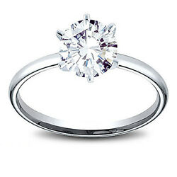 14k Gold 1.01 Ct Round Cut Diamond Solitaire Engagement Ring L Si2