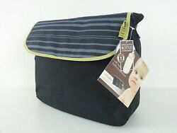 NWT BABY INNOVATIONS Messenger Diaper Bag Black and Gray. Insulated interior $31.95