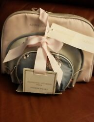 Adrienne Vittadini Cosmetic Makeup Bags Compact Travel Toiletry Bag Set in Small