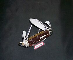 Western S901 Campers Knife Usa Made Circa-1970and039s Boulder Co. Long Pulls New Old
