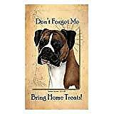 Fawn Boxer Uncropped Dog Baggage Buddies Luggage Tag 4quot;