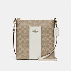 NEW COACH Coated Canvas Signature Crossbody Bag Chalk Beige =Black Friday=