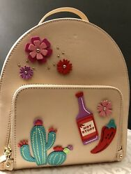 Kate Spade New Horizons Cactus Tomi Cashew Backpack NWT $329